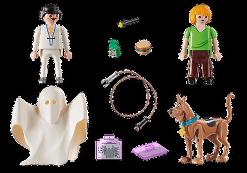 Playmobil SCOOBY-DOO! Scooby et Sammy avec fantôme