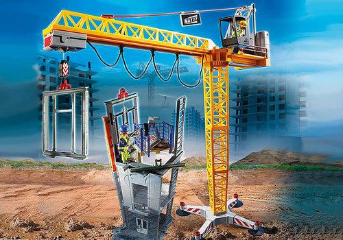 Playmobil Grue radio-commandée avec mur de constructio