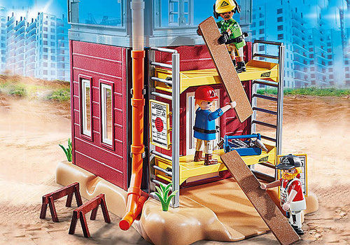 Playmobil Ouvriers avec échafaudage