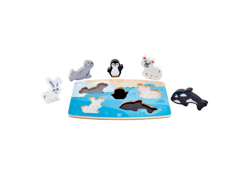 Hape Puzzle tactile - Animaux polaires