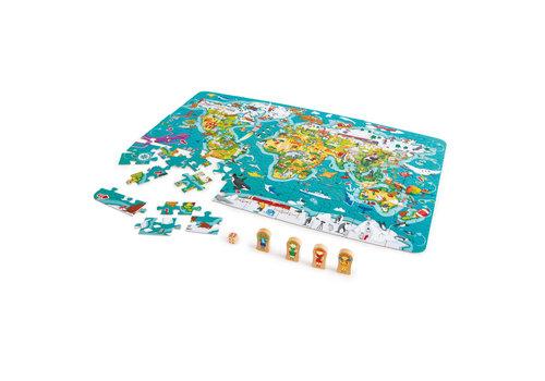 Hape Puzzle et jeu 2-en-1 tour du monde