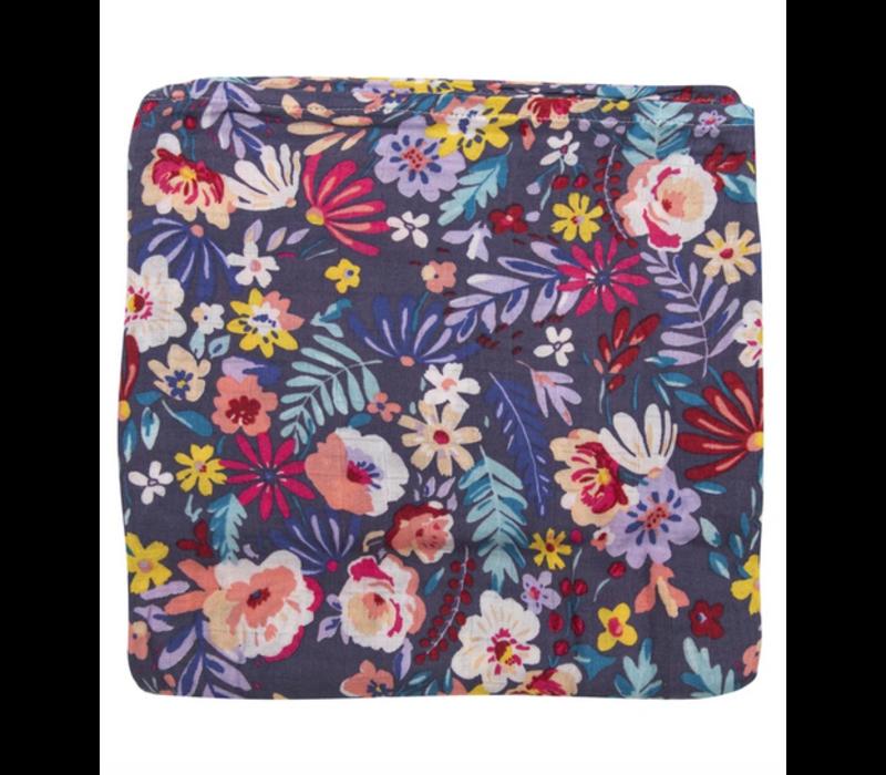 Doudou en mousseline - Dark Field Flowers