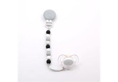 Bulle Bijouterie attache-suce mini- noir,tacheté, gris pale et blanc