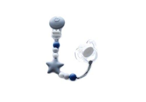 Bulle Bijouterie attache-suce nano- gris, tacheté, gris pale et bleu saphir