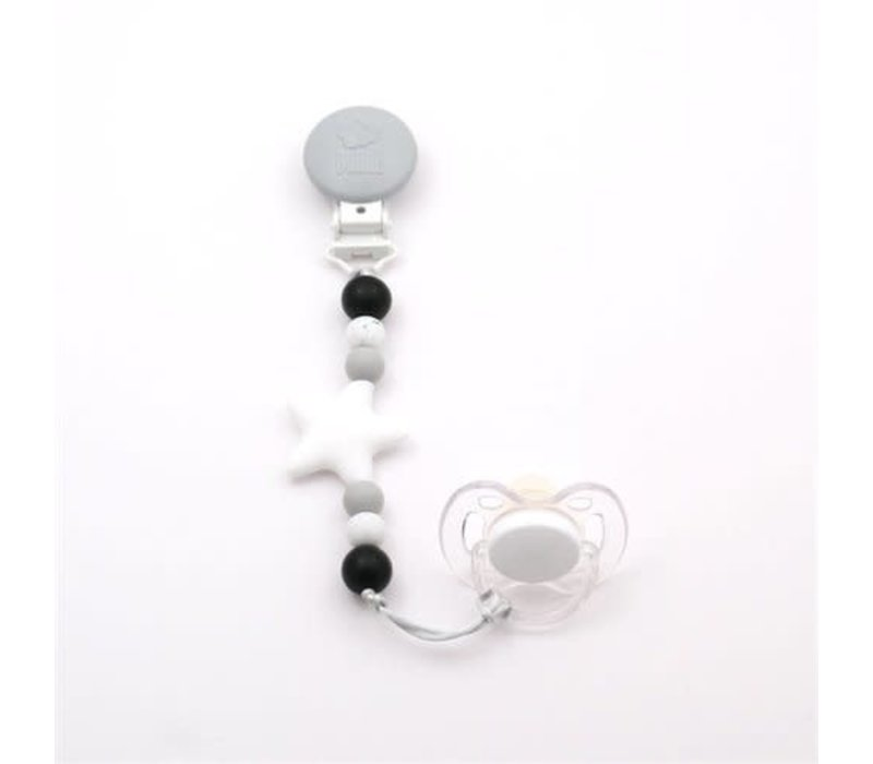 attache-suce nano- blanc, gris pale, tacheté et noir