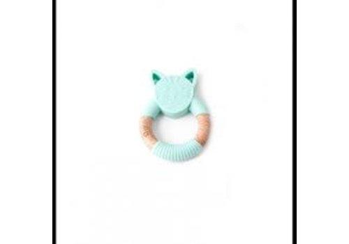 Bulle Bijouterie hochet animal - chat menthe
