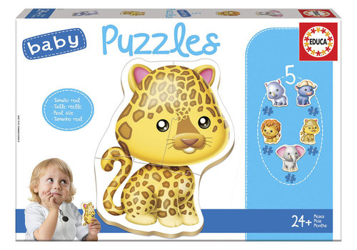 Educa 5 Baby Puzzles - Wild Animals Refresh
