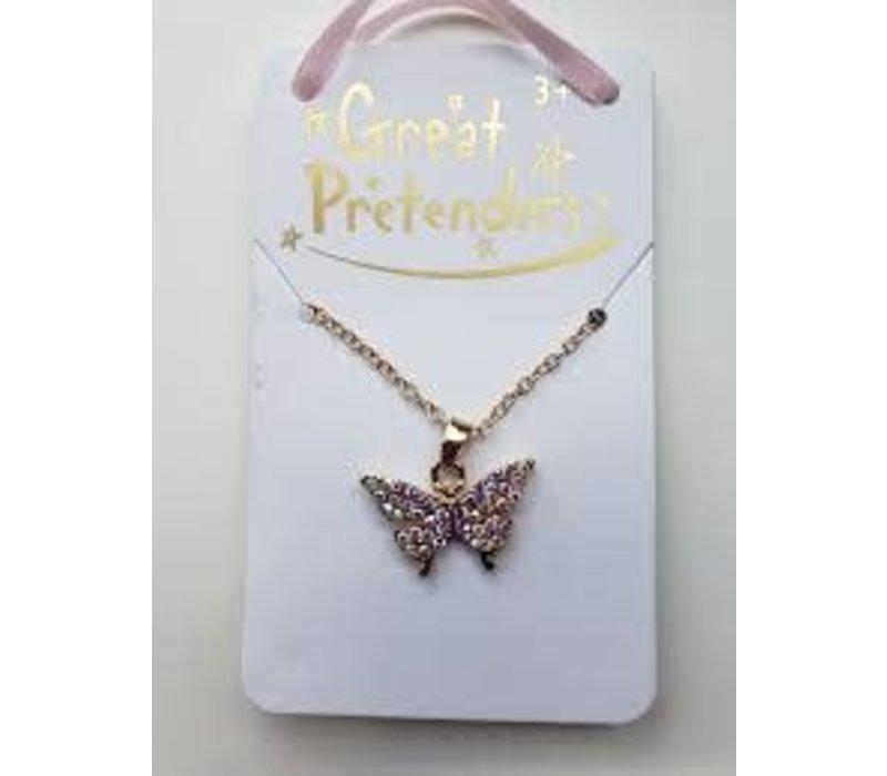 Boutique Butterfly Gem Necklace