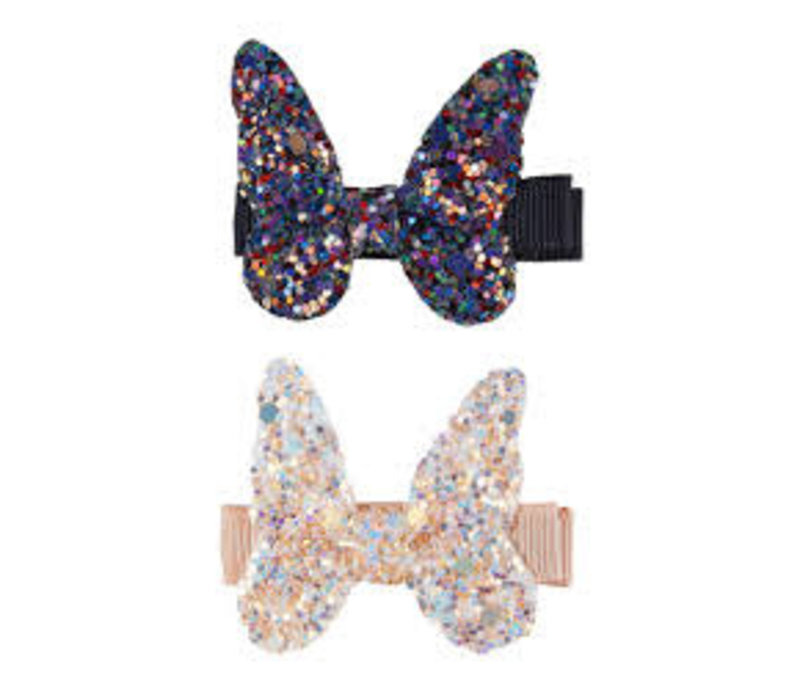 Boutique Rockstar Butterfly Hairclips, 2 Pcs