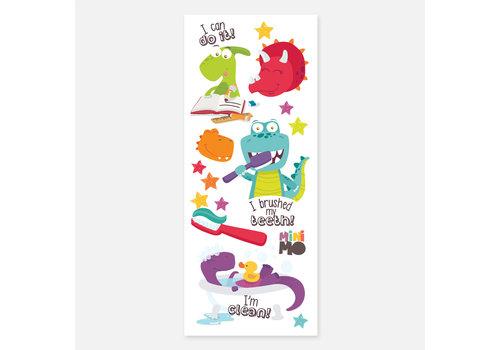 Lalita's Art shop Dinosaures - Minimo Motivation Ludiques - Tatouages éphémères