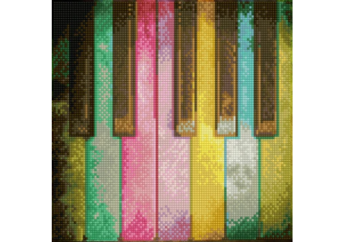Diamond Dotz Diamond Dotz - Piano Rainbow