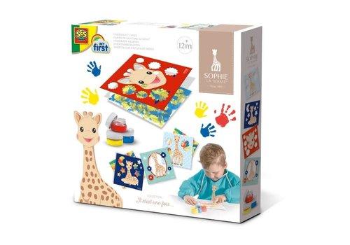 Cartes à peindre au doigt - Sophie la girafe