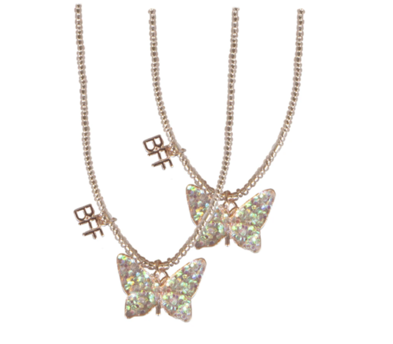 BFF Butterfly Share & Tear Necklace 2 Pcs