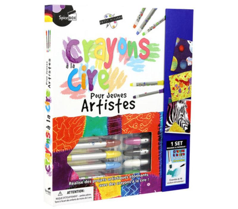 Crayons à la cire pour jeunes artistes
