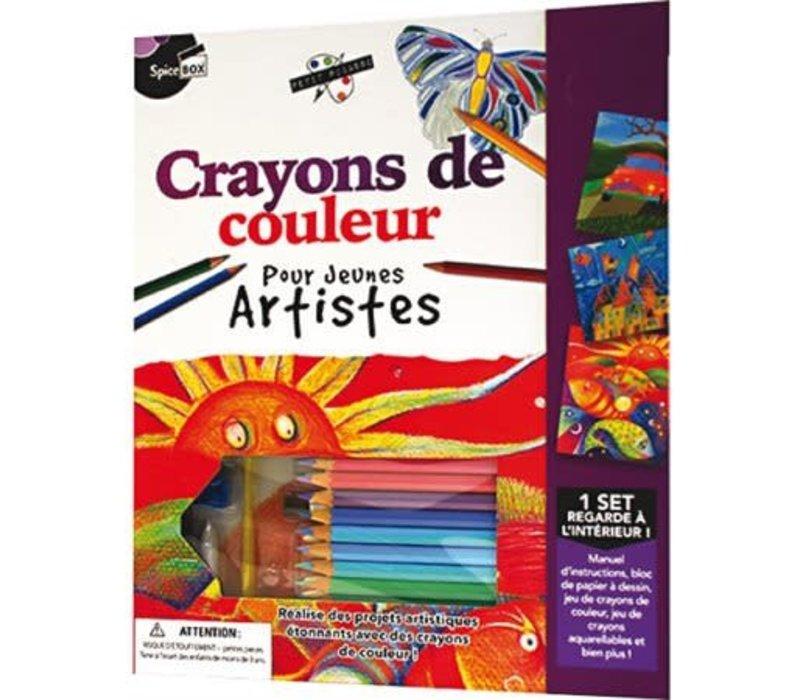 Crayons de couleur pour jeunes artistes