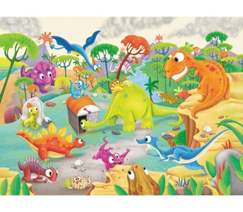 Casse-tête Le voyage des dinosaures - 60 morceaux