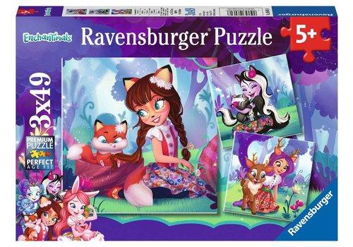 Ravensburger Casse-tête 3x 49 morceaux - Le monde merveilleux des enchantimals