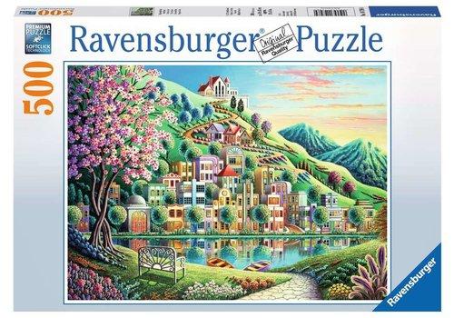 Ravensburger Casse-tête 500 morceaux - Parc fleuri