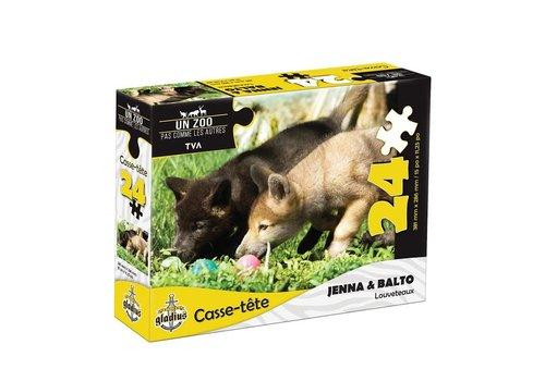 Miller Zoo Casse-tête - Jenna et Balto -24 morceaux - Miller Zoo