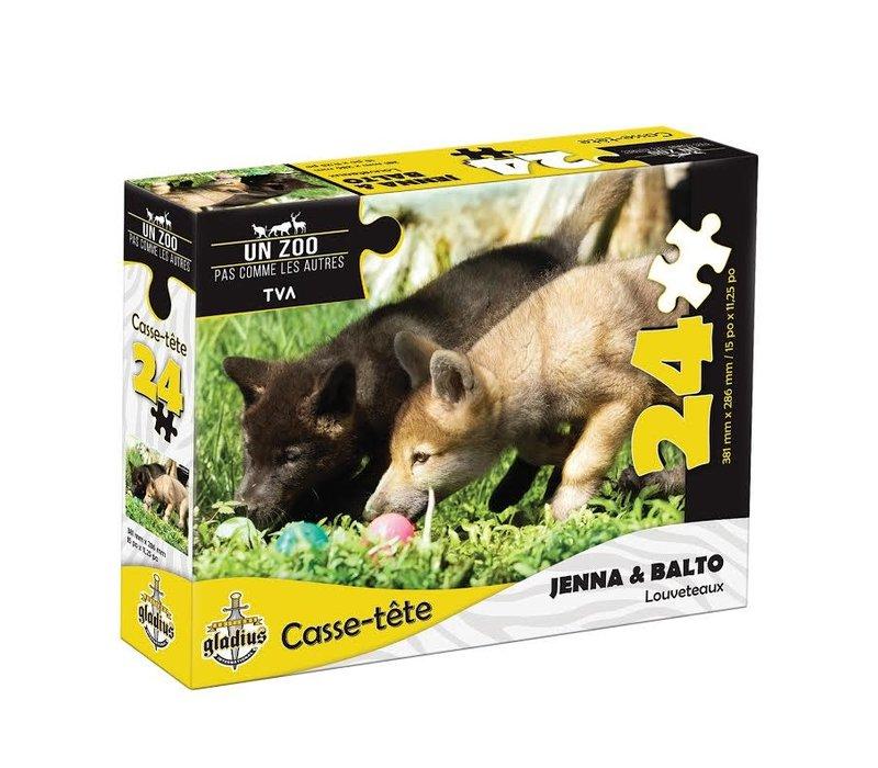 Casse-tête - Jenna et Balto -24 morceaux - Miller Zoo