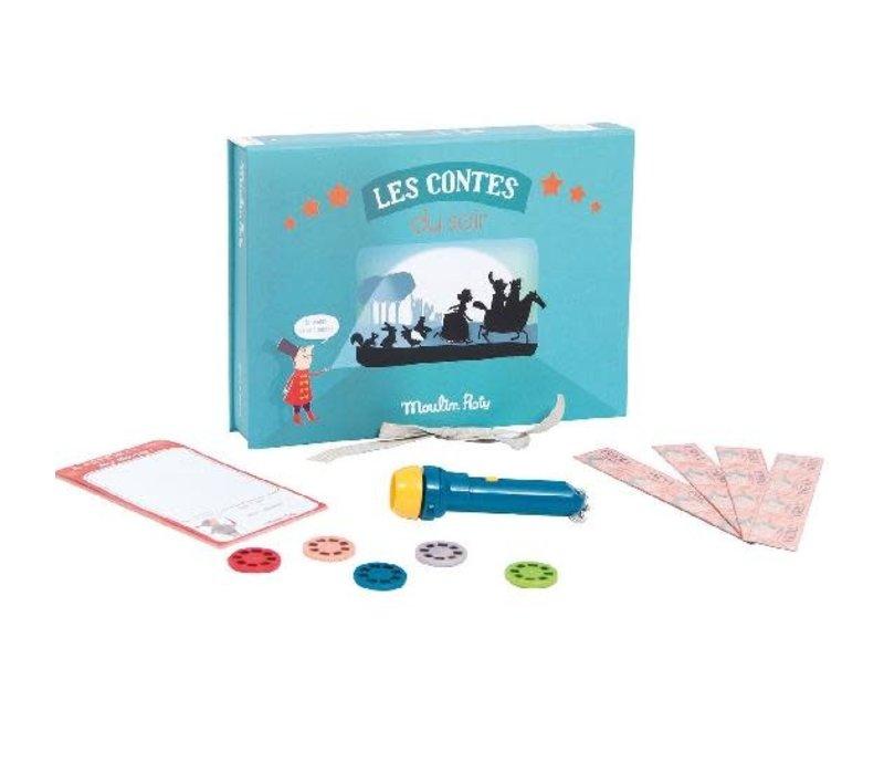 Histoires du soir - Fairy tale cinema box with torch