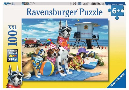 Ravensburger Casse-tête 100 morceaux - No Dogs on the beach