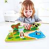 Hape Farm Animal Puzzle & Play - Puzzle et jeu animaux de la ferme