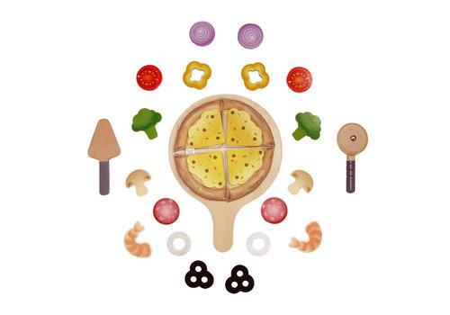 Hape Perfect Pizza playset - Plateau à pizza complet