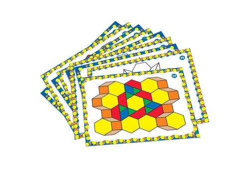 Learning Resources Pattern Block Designe Cards