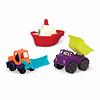 "Battat / B brand B.Summer -Ens. 3 Mini véhicules ""Loaders&Floaters"""