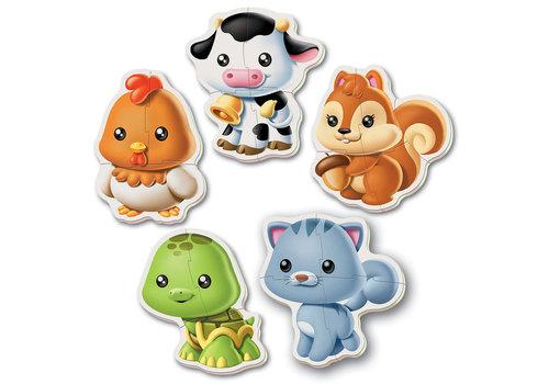 Educa 5 Casse-têtes bébé - Animaux Refresh
