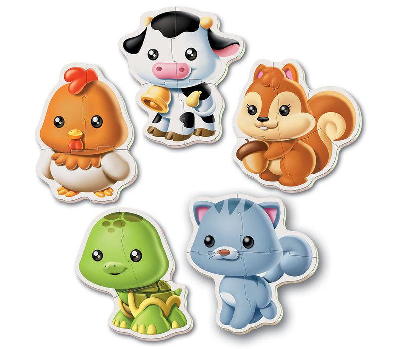 5 Casse-têtes bébé - Animaux Refresh