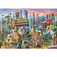 Casse-tête 1500 pièces - Les gratte-ciels d'Asie