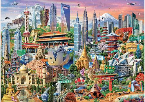 Educa Casse-tête 1500 pièces - Les gratte-ciels d'Asie