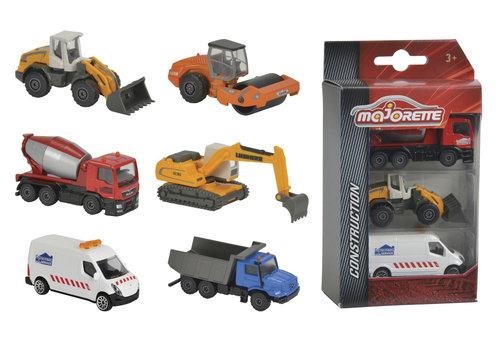 Majorette Majorette-Ens. construction 3 vehicules