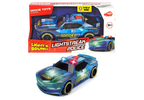 Dickie - Racing Lightstreak Police S&L 20 cm
