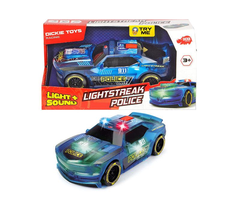 Dickie - Racing Lightstreak Police S&L 20 cm