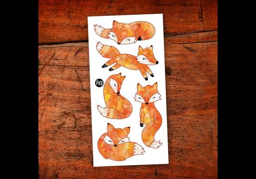 pico Tatouages temporaires - Les renards roux
