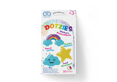 Diamond Dotz Dotzies- Arc en ciel, étoile, nuage