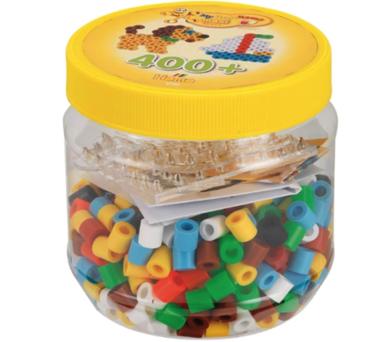 400 perles Hama maxi - Maxi 400 beads & pedboard in tub pink