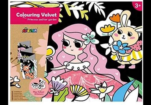 Avenir Colouring Velvet Princess and Her Garden - Coloriage Velours Princesse et son jardin