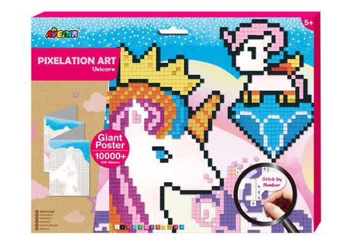 Avenir Pixelation Art Licorne