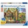 Ravensburger Casse-tête 300 Pièces Larges  - Vue sur l'abri de jardin