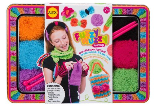 ALEX Toys Craft Fuzzy Wuzzy Knitting Kit