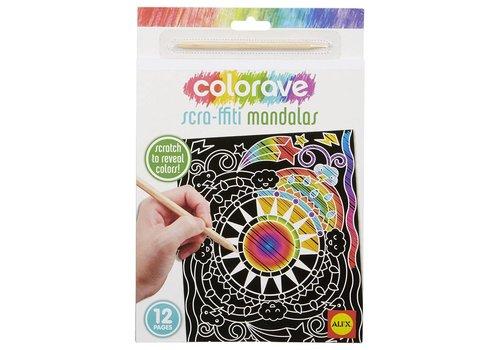 ALEX Art Colorave Scra-ffiti Mandala
