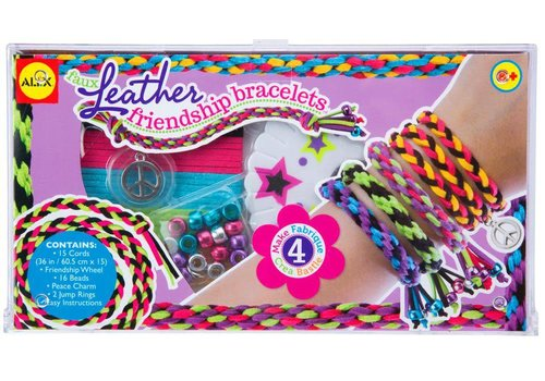 Alex ALEX Toys Do-it-Yourself Wear Faux Leather Friendship Bracelets Kit