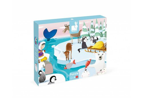 Janod Tactile Puzzle 'Life on Ice' - 20pcs