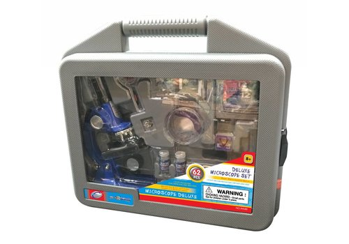 Microscope deluxe 900x en mallette 62 pièces