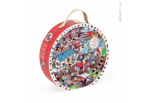 Round Puzzle Firemen - 208pcs