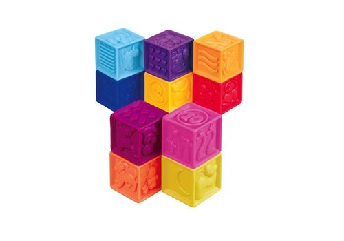 "Battat / B brand B.Baby -Blocs souples ""One Two Squeeze"""